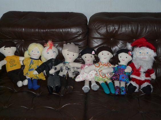 Maria Marinus making baby dolls