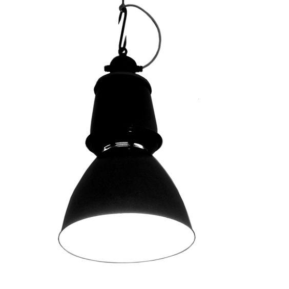 Industriedesign Leuchte mit großem Emaille Gehäuse - Modell 24251
