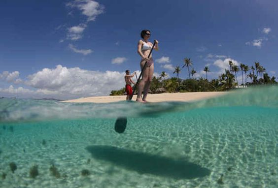But did you know you can also paddleboard over crystal-clear waters…