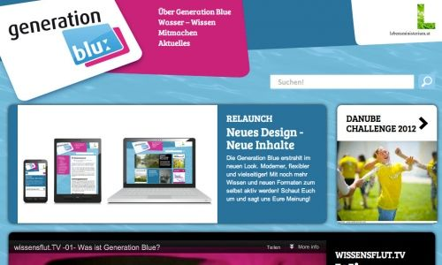 Generation Blue / Startseite / Fullscreen © echonet communication GmbH