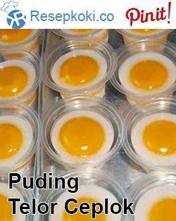 Cara Membuat Telur Mata Sapi : membuat, telur, Membuat, Puding, Telur, Ceplok, Camilan,, Puding,, Pudding, Desserts