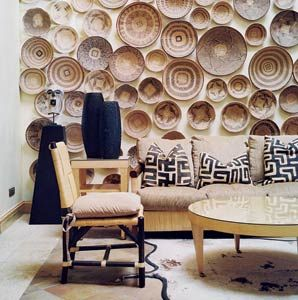 The lounge at the Saxon Boutique Hotel, in Sandhurst, Joburg