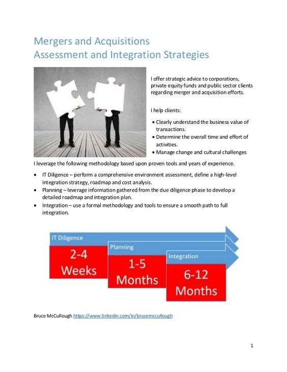 Mergers and Acquisitions, Assessment and Integration Strategies