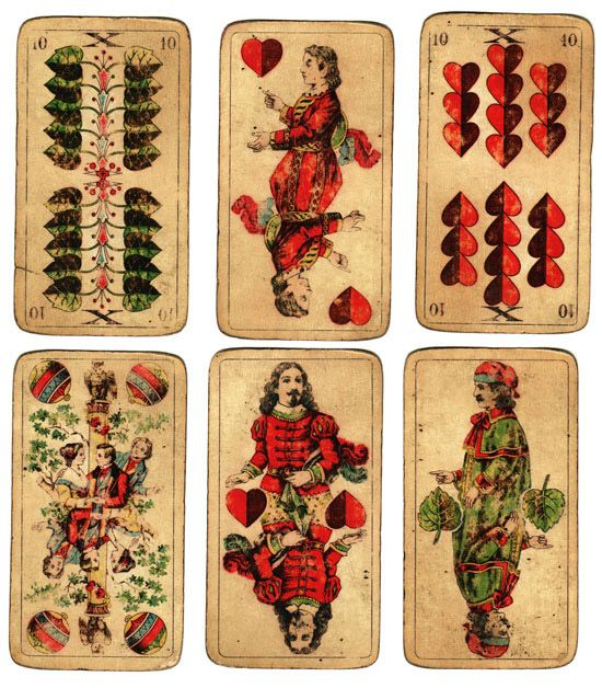 antique playing cards | Poppytalk: Collecting Collections: Vintage Playing Cards