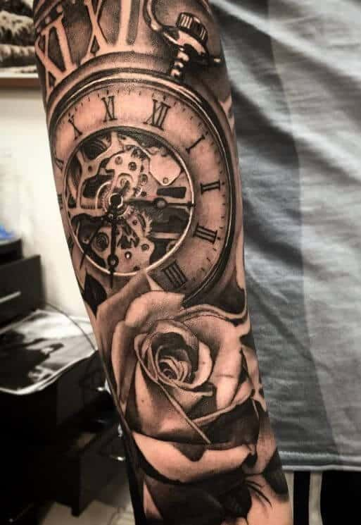 Clock Tattoos For Men Watch Tattoos Pocket Watch Tattoos Clock Tattoo