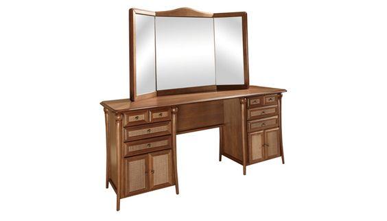penteadeira com espelho de madeira - Pesquisa GooglePenteadeira Império Com 3 Espelhos, 8 Gavetas e 4 Portas em várias cores
