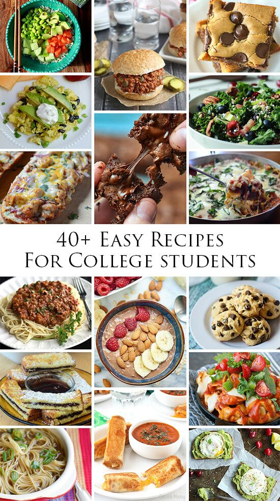 40+ Easy Recipes for College Students | These easy recipes don't have to be only for college kids...Dad's looking in your direction!! #easyrecipes #foodie