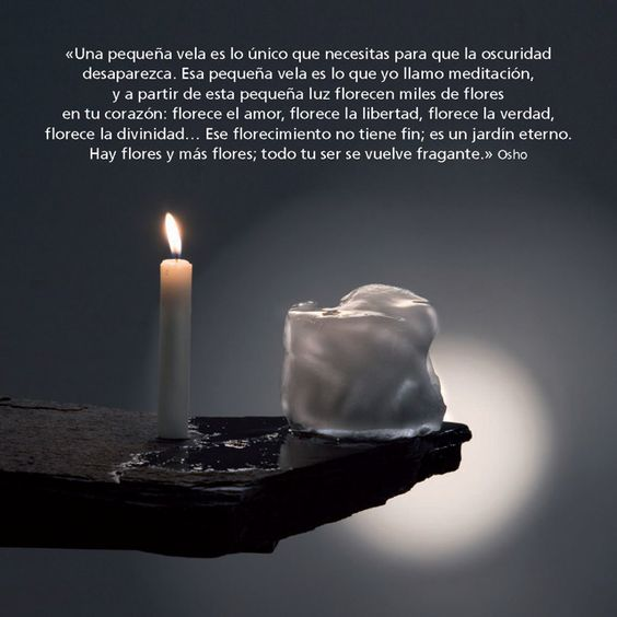 Noviembre - Una pequeña vela es lo único que necesitas... - www.osho.com/es