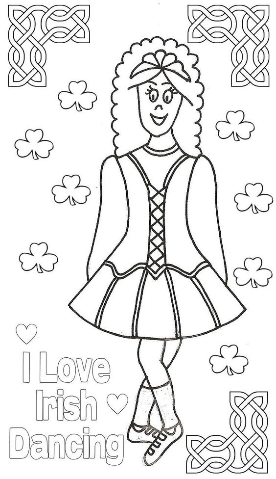 irish dance coloring pages free - photo#1