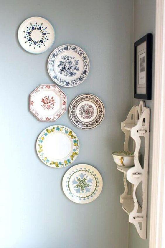 pratos estampados para decoração de parede #decoracaodeparede #decoração #decorideas