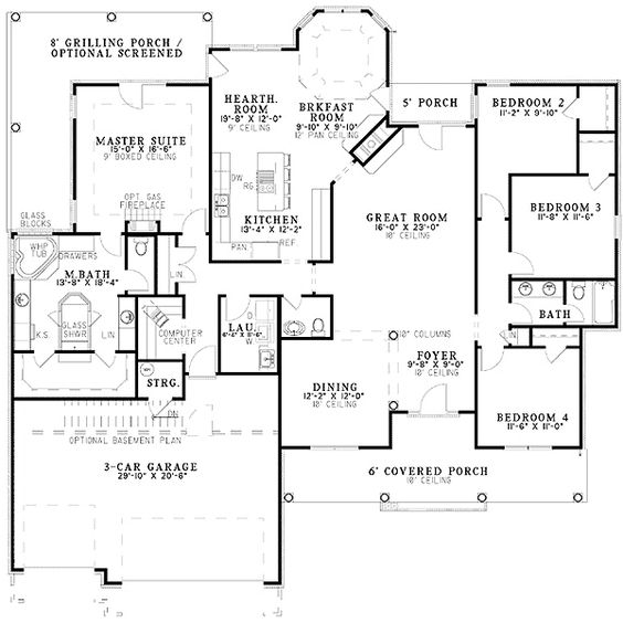 Plan 59436nd french classic ranch home plan house plans for Classic ranch homes