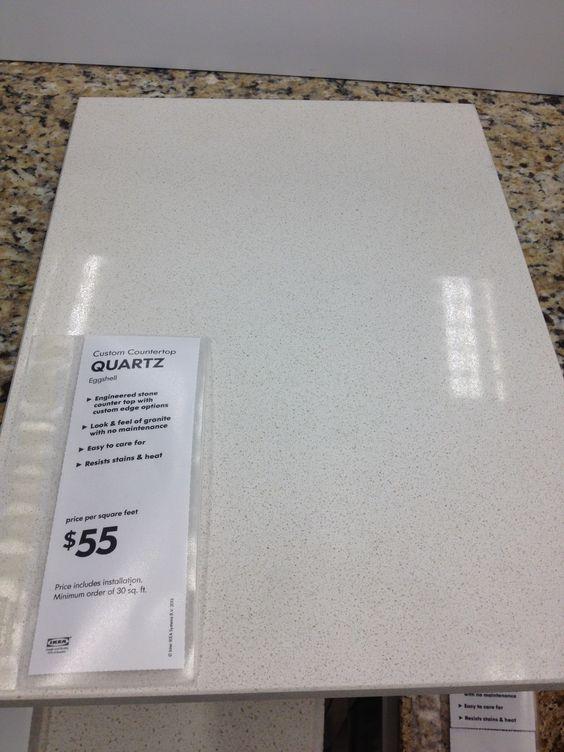 An Affordable And Innocuous Countertop Option Ikea 39 S Eggshell Quartz C O U N T E R S