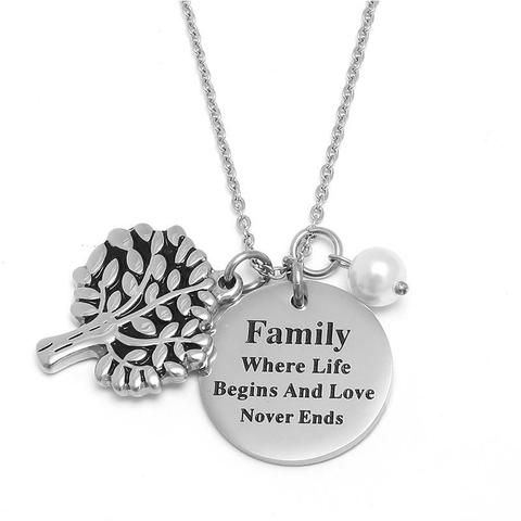 10 Pieces Charm Family Tree Pendant Necklace From Touchy Style Outfit Accessories Cute Phone Cases Cas Pendant Necklace Outfit Family Necklace Quote Pendant