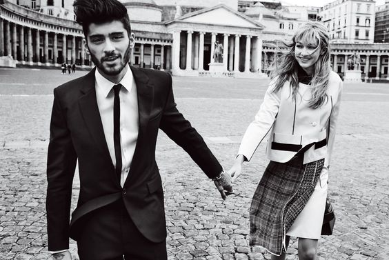 GIGI and ZAYN in Italy for Vogue: