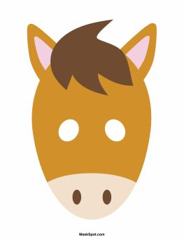 Image Gallery horse face template