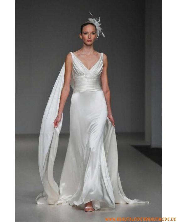 Sexy neuer Stil Brautkleid aus Satin wie Seide A-Linie