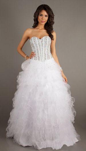 White Pageant Dress http://www.discountdressshop.com/cinderalla ...