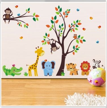 Animales de la selva 1 vinilos decorativos infantiles for Vinilos dormitorios infantiles