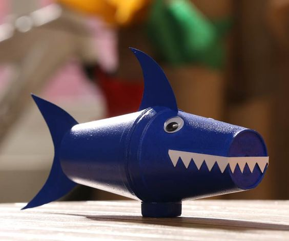 How to make a shark out of plastic bottles google search for Model on best out of waste