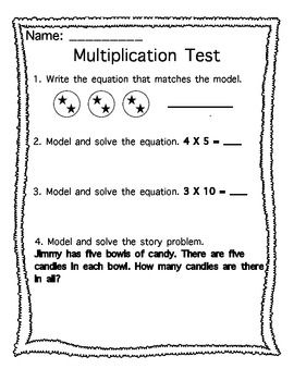 Multiplication Assessment- Focus on Equal Groups and Arrays | The ...