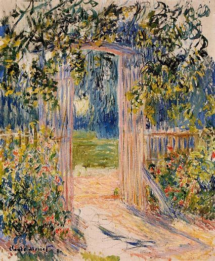 poboh:    The Garden Gate, Claude Monet.