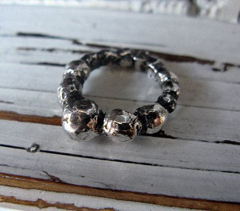 Silver Ball Ring Hot Rox 6 by HotRoxCustomJewelry on Etsy, $195.00