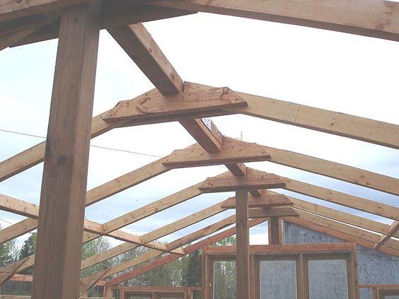 Construire la structure du toit d'une serre en bois Instructions http  www france jardinage  # Construire Une Serre En Bois Et Verre