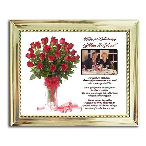 Mom and Dad 50th Anniversary Gift - Parents Golden Anniversary Poem in ...