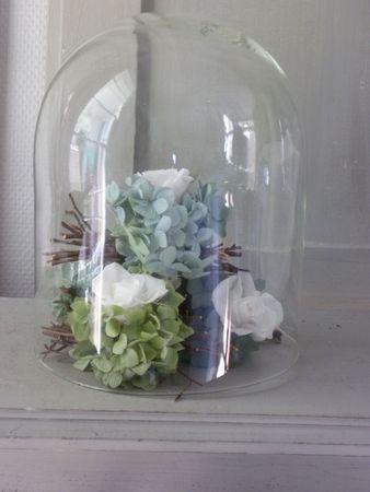 Petits et gros fagots hortensia s ch et roses naturelles for L interieur d un couvent
