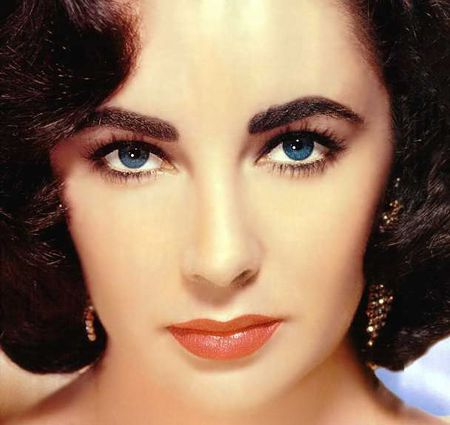 Liz,brows, looks & lashes. c. 1950  For Elizabeth's lash look, try the Glad Girl, Lopez Strip Lashes.