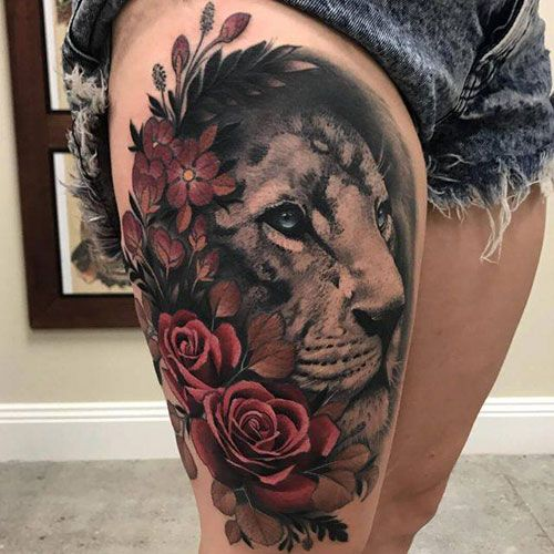Best Thigh Designs For Females - Best Thigh Tattoos For Women: Cute Thigh Leg Tattoo Designs and Ideas For Girls #tattoos #tattoosforwomen #tattooideas #tattoodesigns
