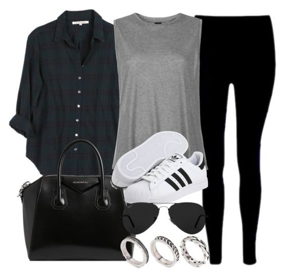 """""""Style #11136"""" by vany-alvarado ❤ liked on Polyvore featuring Xirena, Givenchy, Boutique, adidas Originals, Ray-Ban and ASOS"""