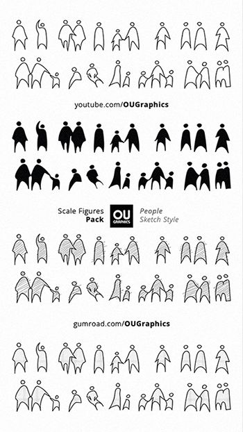 Scale Figures Pack By Ou Graphics Diagram Architecture Architecture Collage Sketches Of People