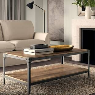 Three Posts Kanagy Coffee Table With Storage Living Room Table