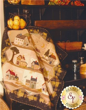 Good Night: Good Night is an adorable quilt designed by Yoko Saito that has lovely houses in the quilt blocks and an ingenious border design! This pattern includes instructions to complete a quilt measuring 39 3/8