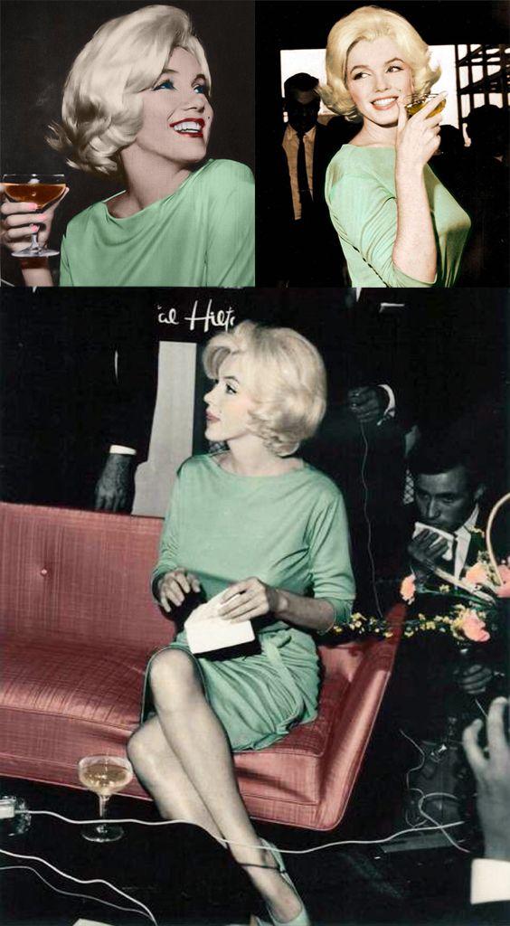 Marilyn Monroe,1962. When she died, she was buried in this dress.  Marilyn Monroe 1962. Quand elle est morte, elle a été enterrée dans cette robe.