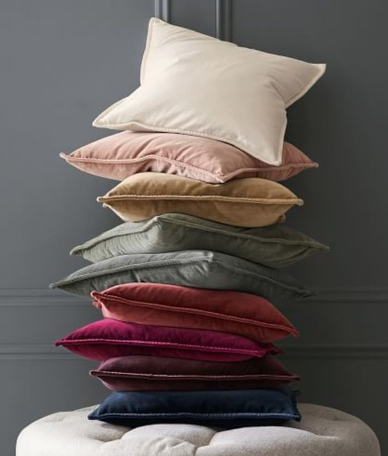 Pretty velvet pillows