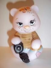 Fenton Glass NFGS Spring Limited Edition Pink Bear with Dog #14/25 Kim Barley