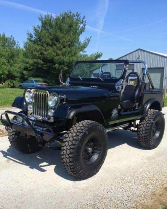 Blackout | Jeep CJ7: Motorvation salutes fat tires, big blocks, custom works, cast iron, steel ...