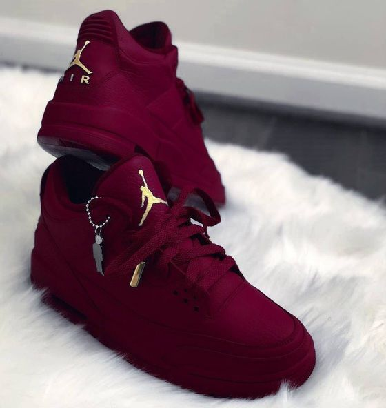 burgundy and gold nike sandals