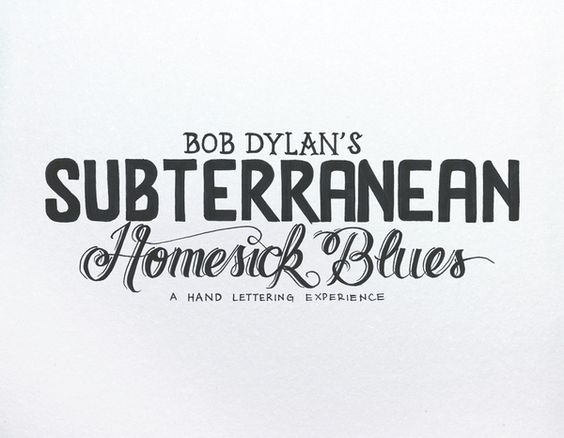 Bob Dylan´s Hand Lettering Experience by Leandro Senna