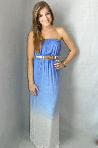 Malibu Maxi Dress (Blue) | Girly Girl Boutique