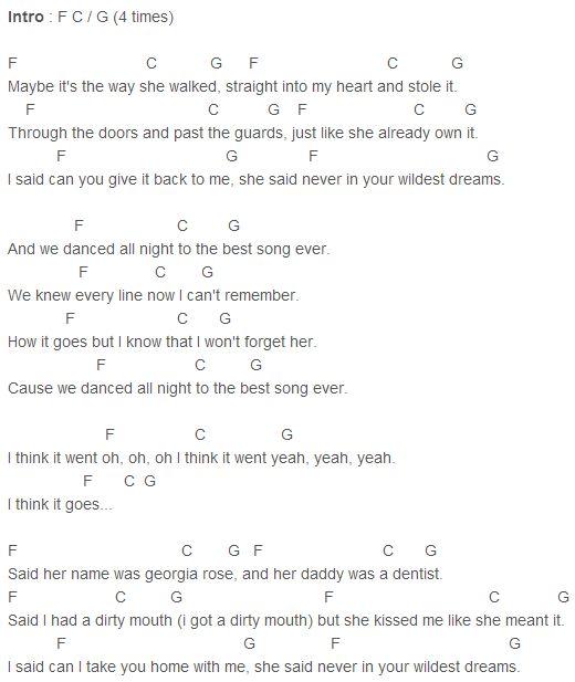 One Direction - Story of My Life Chords Capo 1 | Ukulele | Pinterest ...