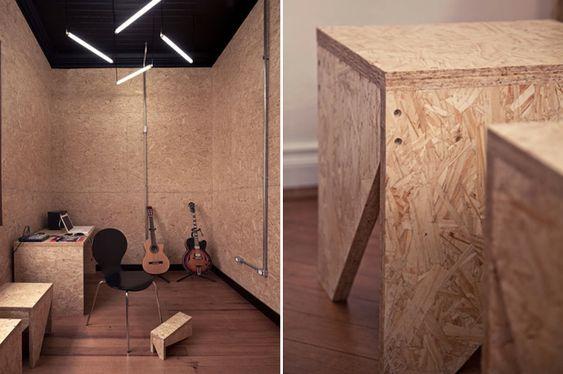 Chipboard Interiors Brazilian music centre