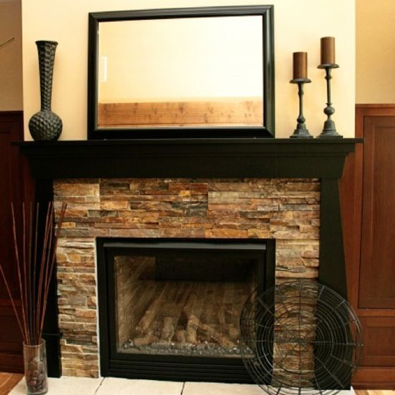 Downstairs Fireplace Idea We Could Box In Like