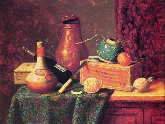 Still Life 1883 | William M Harnett | oil painting  - Prices starting at $163 Check more at https://www.oceansbridge.com/shop/subjects/still-life/still-life-1883