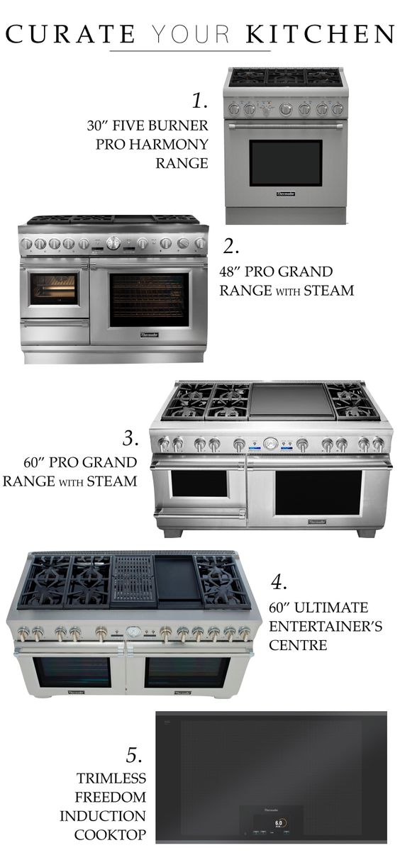 thermador range cooktop options cocina productos. Black Bedroom Furniture Sets. Home Design Ideas