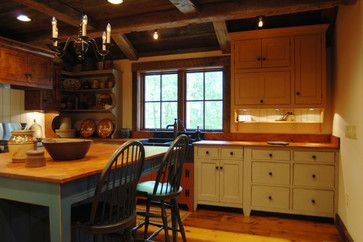 Central kentucky log cabin primitive kitchen eclectic for Kitchen cabinets louisville ky