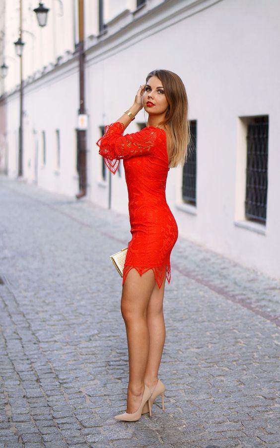A PIECE OF ANNA - blog modowy, blog o modzie, blogerka z lublina: RED LACE DRESS | PARTY LOOK | czerwona koronkowa sukienka w stylizacji