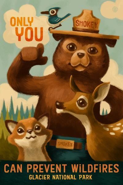 Glacier National Park, Montana - Smokey Bear - Only You